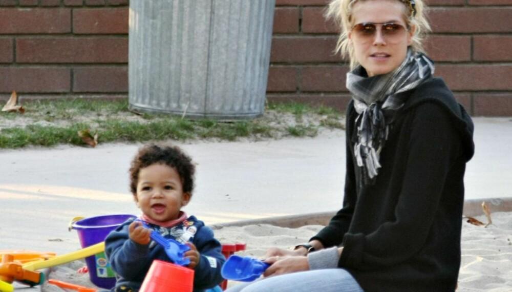 Heidi Klum og sønnen