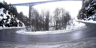 SVINGETE: Norske veier kan være en utfordringer for små mager. Her fra Eidanger i Porsgrunn kommune, Telemark.