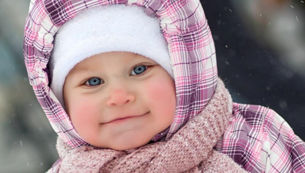 GODT PÅKLEDD: Kle godt på babyen når dere skal ut, og husk at det kan være tøft for luftveiene når du puster inn kald luft.