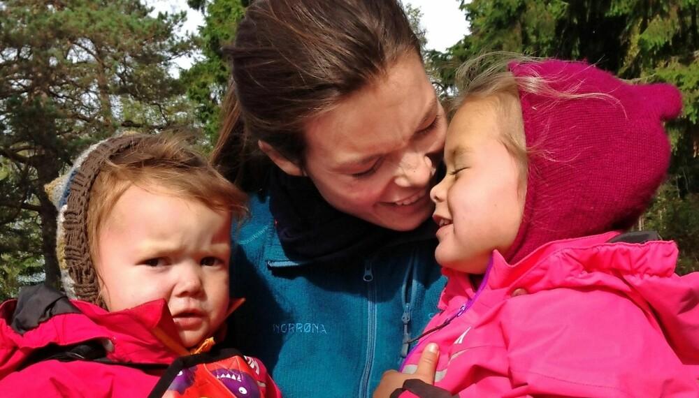 AMMET LENGE: Redaktør i Foreldre & Barn og Foreldre.no, Mari Midtstigen, lot yngstedatteren selv bestemme når hun var ferdig med amming.