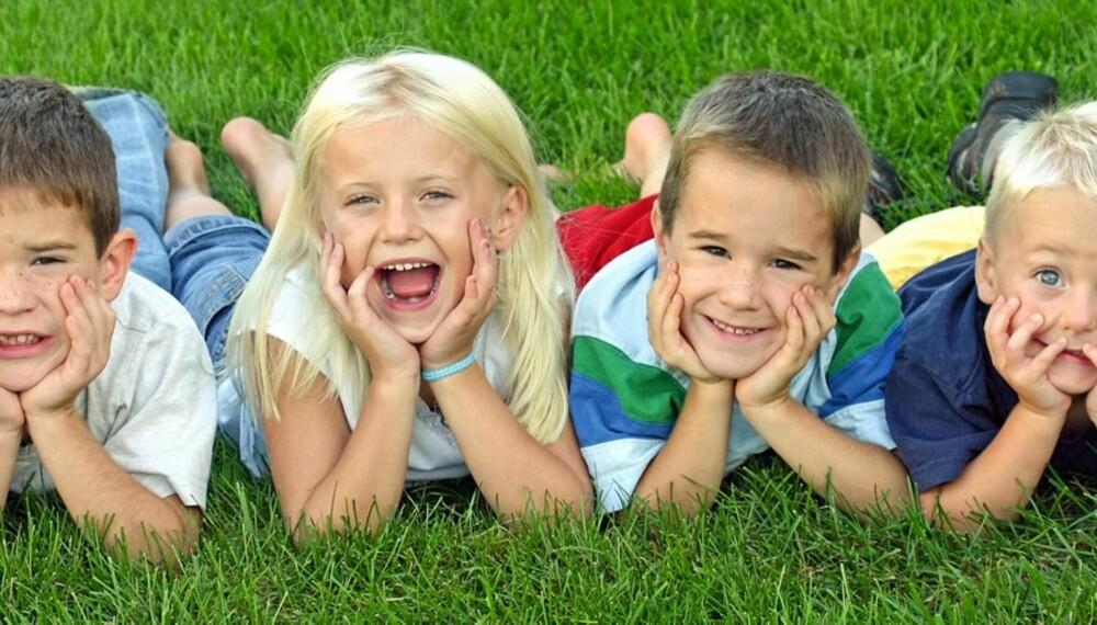 MANGE SØSKEN: Bra for barn