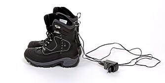 NOE FOR SMÅBARNSFORELDRE: Støvler med elektrisk oppvarming.