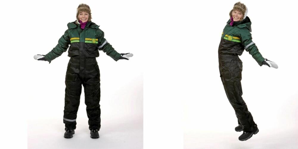 FERDIG: HEr har Tine fått på seg lue fra Bergans, veil. pris kr 499, dress fra Felleskjøpet kr 599, votter fra Hestra kr 499.