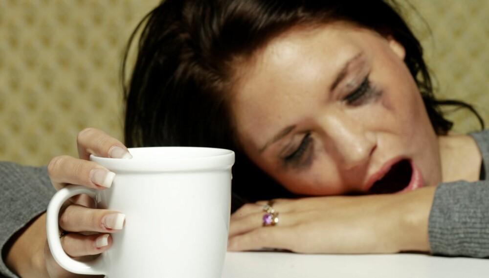 TRØTTE DAGER: Det er helt normalt å sove dårlig i perioder, for eksempel i småbarnstiden. Heldgivis er det ikke farlig, ifølge søvnlege.