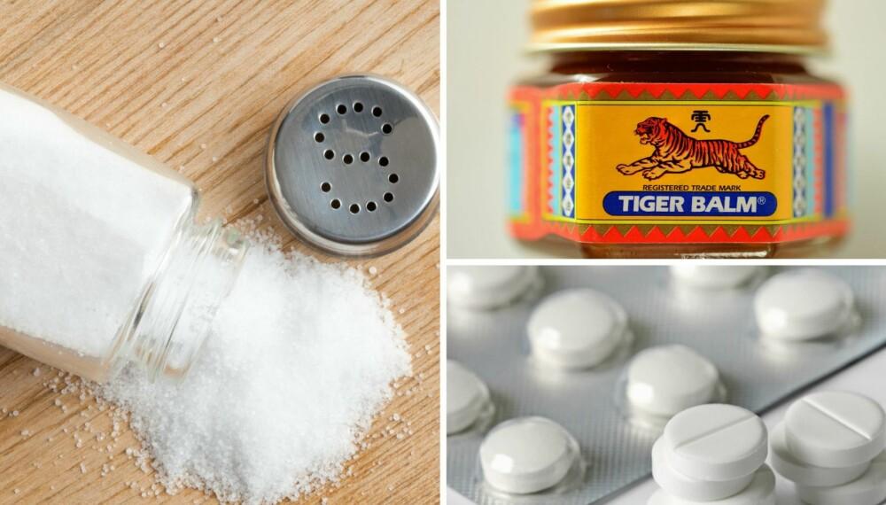 PASS PÅ: Får barna dine i seg tigerbalsam, paracetamol eller en overdose salt bør du ringe legevakten med det samme.