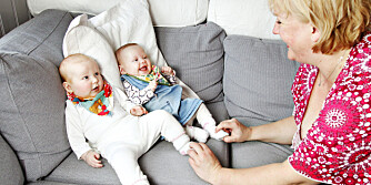 TO PÅ EN GANG: Bodil Fowler var høygravid og mistet bestevenninnen sin. Så fikk hun en datter ekstra. Amelia (t.v.) er Bodils egenfødte barn, mens Elisabeth er datteren til Bodils venninne Kristin.