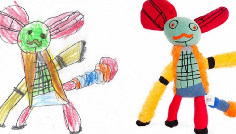 BARNETEGNINGER: Putter du alltid barnetegningene i en ramme? Det finnes utallige andre ting du kan gjøre!