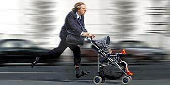 TIL OG FRA: Tidsklemma slår ofte inn når barna begynner i barnehagen.