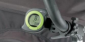 GØY PÅ TUR: Speedometer på barnevogna gjør det morsommere å gå på tur.