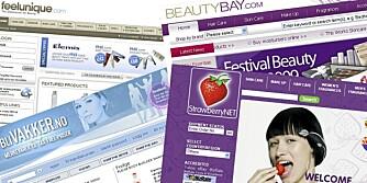 SKJØNNHET PÅ NETT: Det finnes mange nettbutikker som selger skjønnhetsprodukter til en billigere penge.
