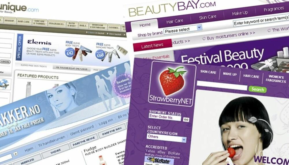 1f402365 SKJØNNHET PÅ NETT: Det finnes mange nettbutikker som selger  skjønnhetsprodukter til en billigere penge.
