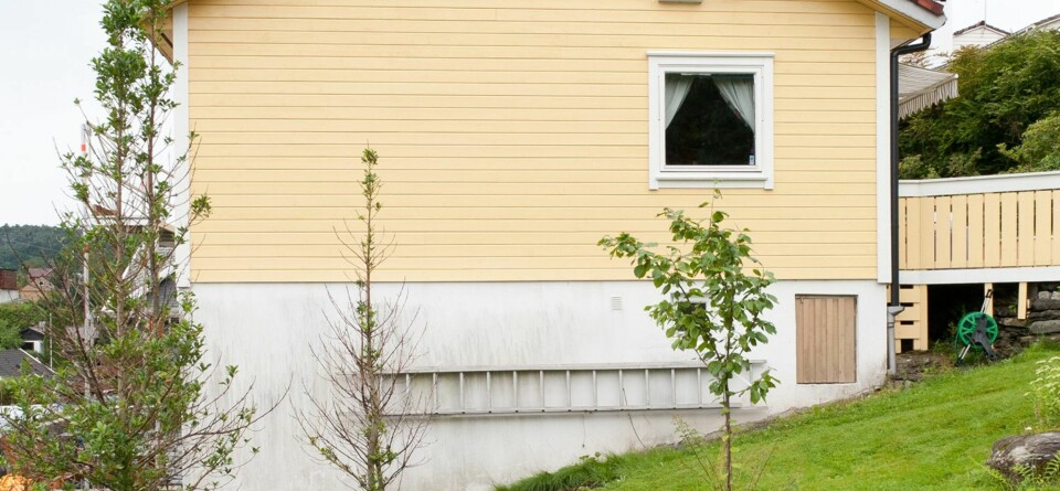 HVIT GRUNNMUR: Mange nordmenn velger hvit grunnmur. Ekspertene mener at det ikke er den ideelle fargen.