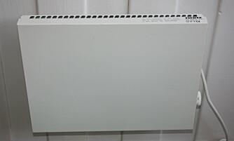 OK Å HENGE OPP: En løs panelovn kan du selv henge opp i hjemmet.