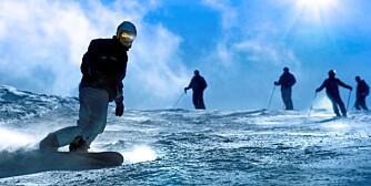 VANLIGSTE SKADER: Vridde knær og skadde underarmer er vanligst i bakken.