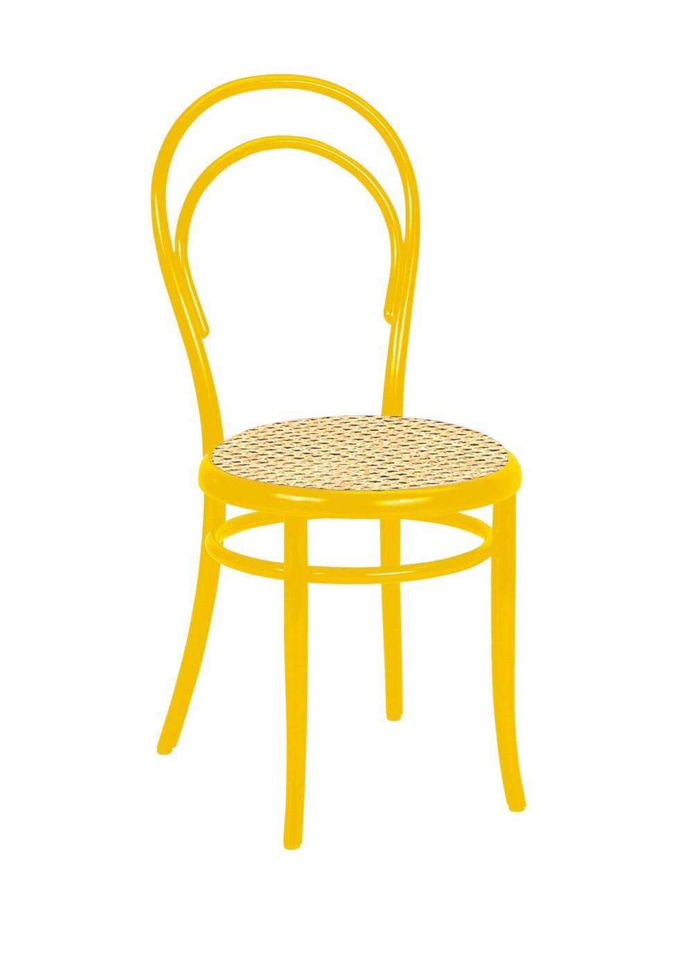 TIDLIG KLASSIKER: Michael Thonet designet stolen No. 14 som var en av de første som kunne flatpakkes. Den består av seks bøkepinner, ti skruer og to muttere. Klassikeren markedsføres i dag som No. 214 for Gebrüder Thonet Vienna, lebensraeume-einrichten.de