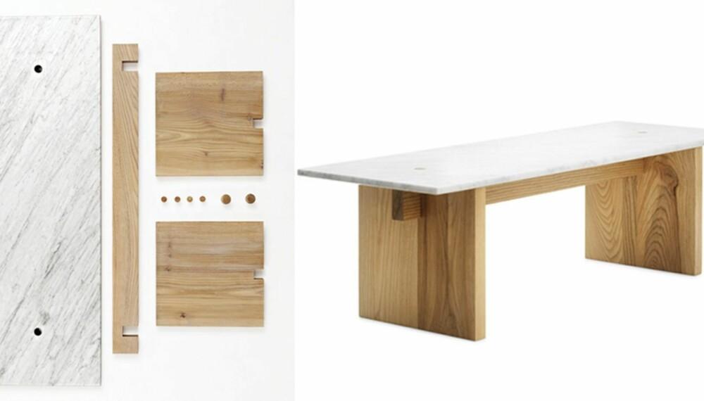 FLATE DELER: Bordet Solid er lett å sette sammen, og det er i solide materialer. Design av Lars Beller Fjetland.