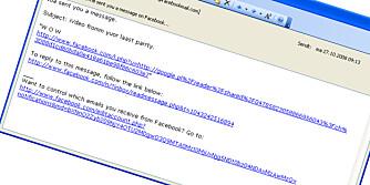 SE OPP: Denne mailen ser ekte ut, men leser du nøye ser du at den neppe kan være ekte.