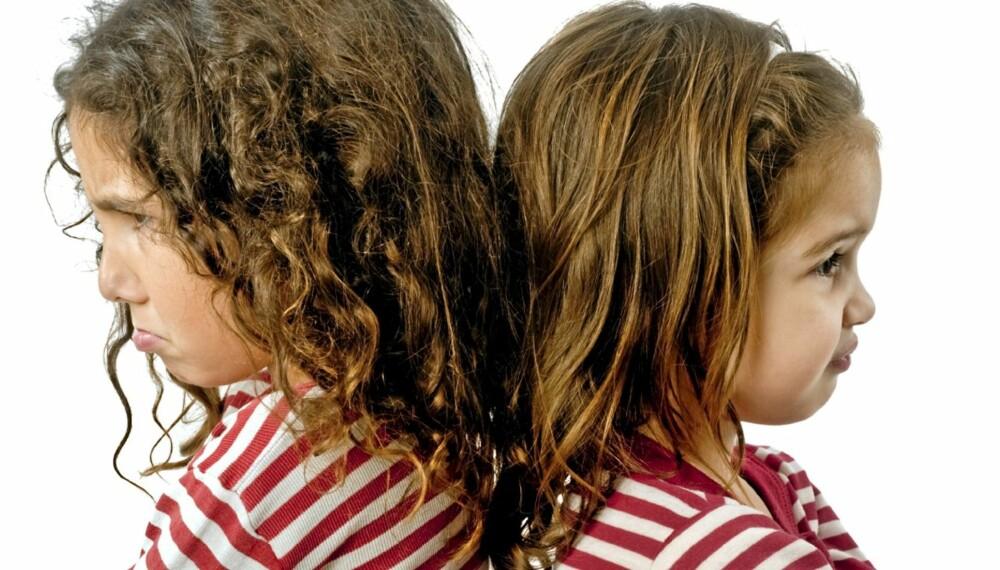 URETTFERIDIG: I en småbarnsfamilile er det ikke grenser for hva som kan bli urettferdig.