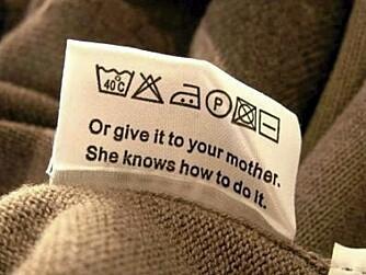 HJEM TIL MOR: Nå trenger du ikke lengre ringe hjem for vaskeråd - eller enda verre; ta med deg skittentøyet til mor.