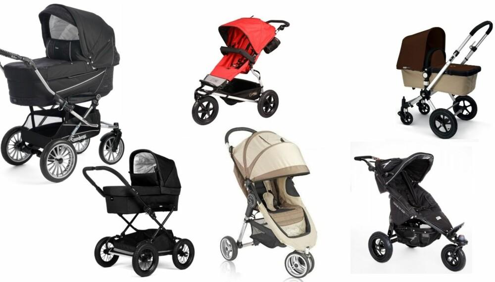 PRISSJEKK: Vi har sjekket prisene på de ti mest populære barnevognene, hos syv forskjellige utsalgssteder.