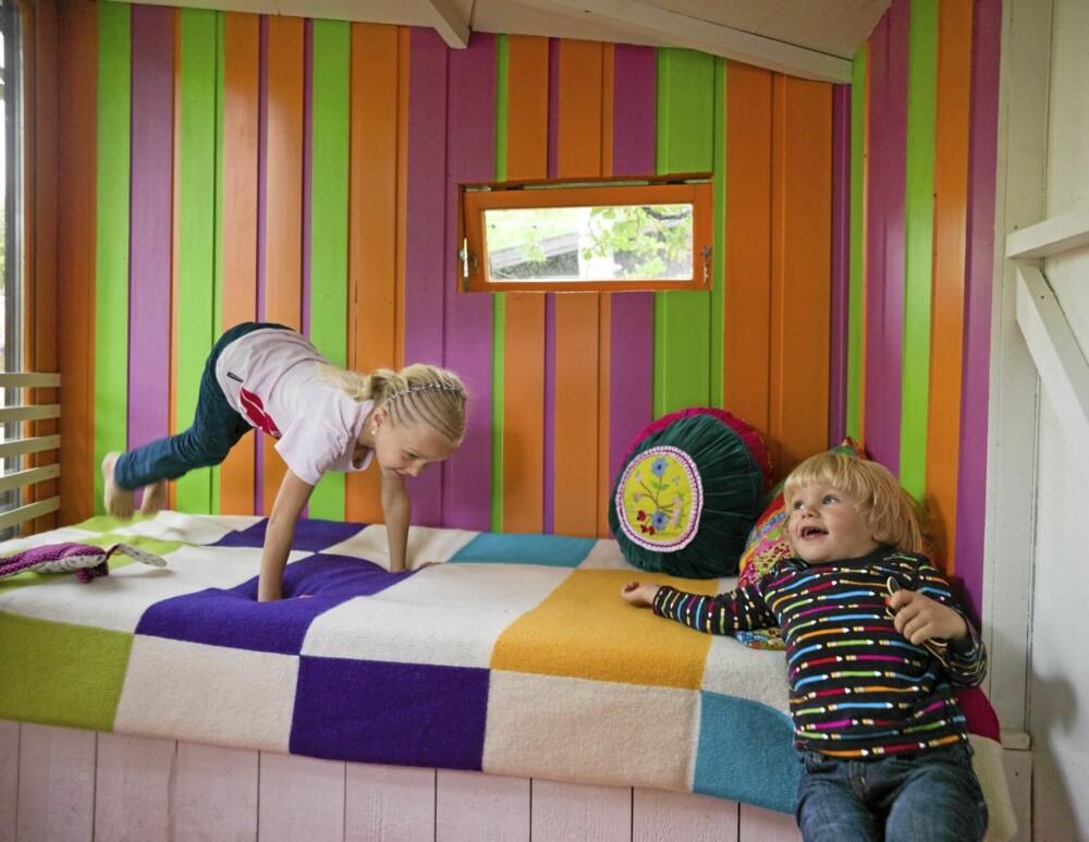 LEK OG MORO: Det er forståelig at barn kan ha det gøy i slike omgivelser.