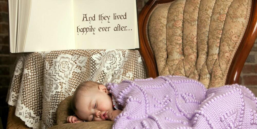 SOVENDE TORNEROSE: «Og så levde de lykkelig alle sine dager...» Lille Maddie er ved eventyrets slutt.