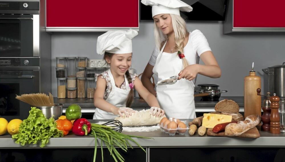 """UNG MATGLEDE: Minst én av deltagerne i """"Norges beste kokkefamilie"""" må være under 12 år."""