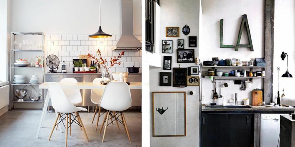 BRUKERVENNLIG: Åpne hyller, ujålete materialer og røffe overflater; disse kjøkkenene er laget for å brukes.