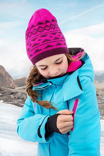 INNEBYGD SENSOR: Yttertøyet ReimaGO har innebygd sensor, og via appen på mobilen kan du sjekke om barnet får nok fysisk aktivitet. Barna kan også selv gå inn i appen og sjekke hvordan de ligger an, og få premier og belønninger hvis de har beveget seg nok gjennom dagen.