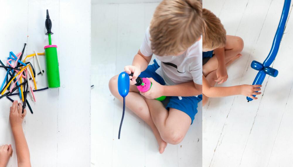 BALLONGDYR: Øvelse gjør mester! Dette gjelder også i når det kommer til å forme ballonger til dyr og morsomme ting.