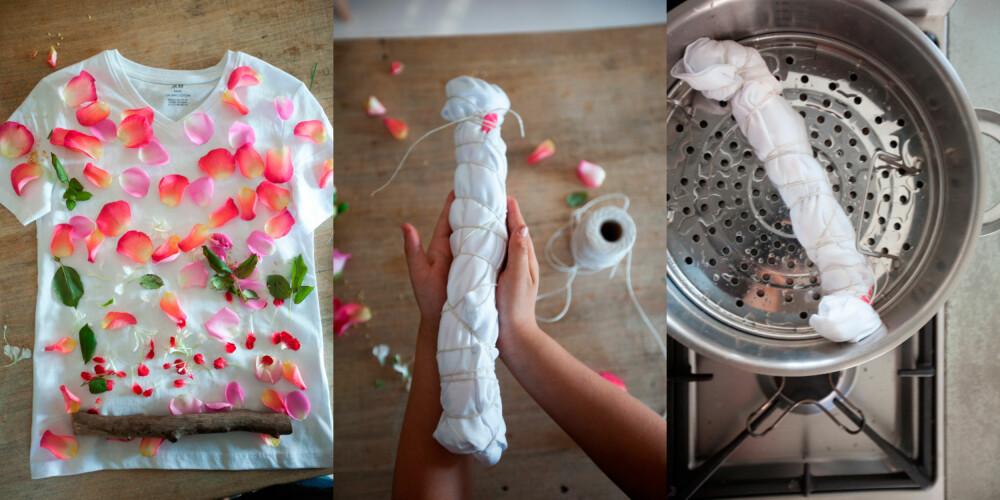 FRA BLOMST TIL T-SKJORTE: Blomstenes kronblader inneholder fargestoffer som lett kan overføres til for eksempel en hvit t-skjorte.