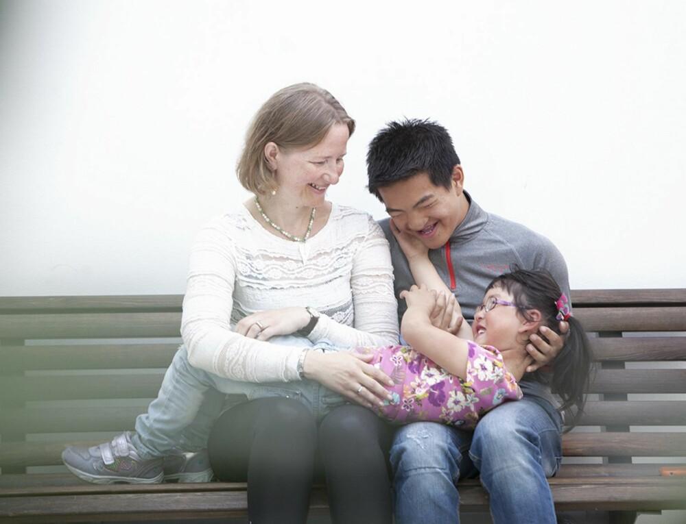 DRØMMEN SOM BLE VIRKELIGHET: Ellen, Sondre og Mathea er blitt den familien Ellen så lenge drømte om.
