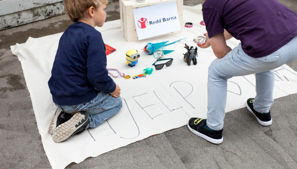 """ENKELT: Barnas leker kommer til unnsetning når Ferdinand har sin egen """"lekebutikk""""  i gaten."""