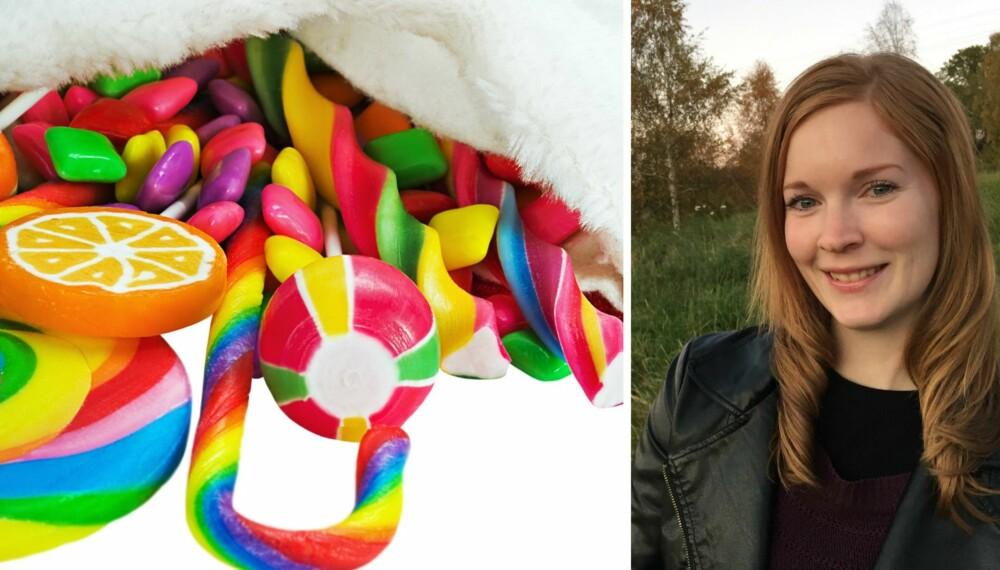 MANGE SPESIELLE ANLEDNINGER: Når alle andre gir datteren min søtsaker, blir det ingen godterikvote igjen som jeg kan gi, skriver Ingrid Raknes Knutsen-Øy.