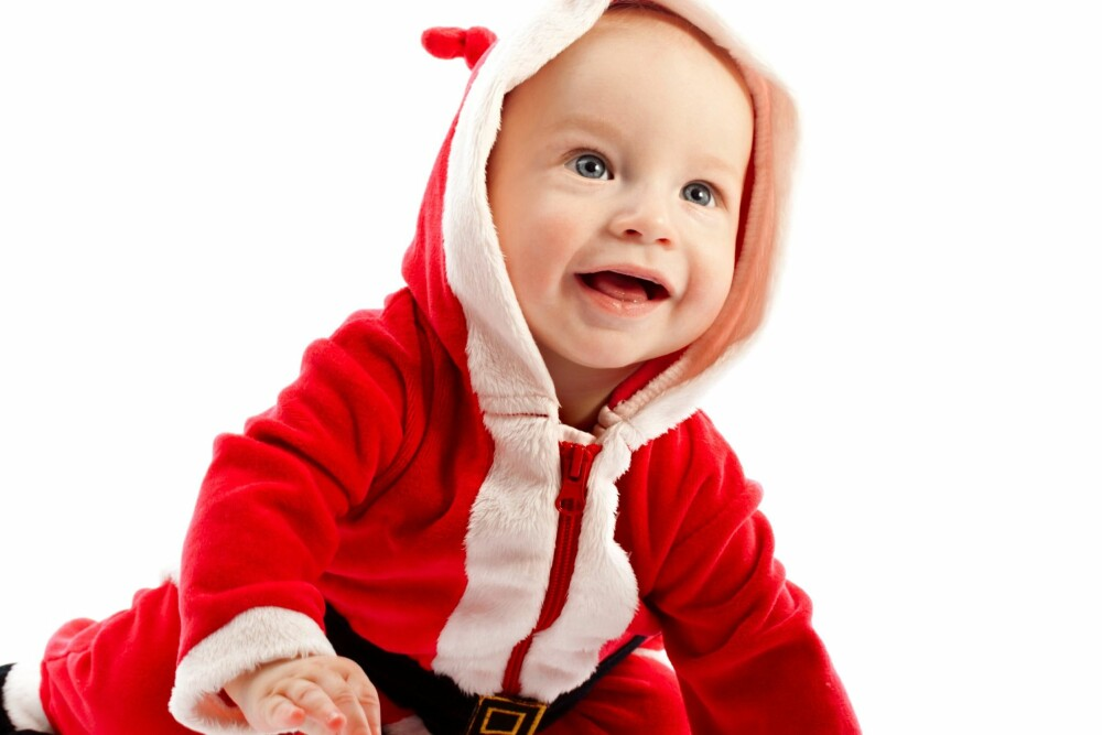 NULL TIL ETT ÅR: De aller minste skjønner ikke så mye av jula, men merker at stemningen er annerledes.
