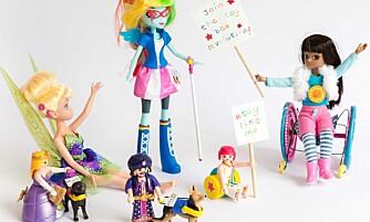 LIKHET I LEKEKASSEN: Kampanjen Toy Like Me har laget en rekke dukker og leker med ulike funksjonshemninger, for å vise at også funksjonshemmede barn trenger leker som ligner dem selv.