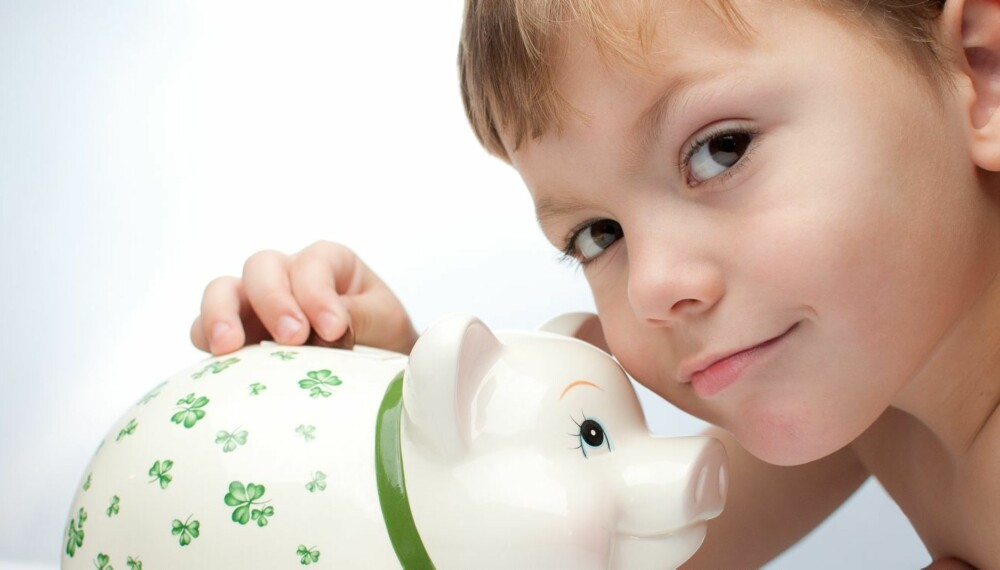 BARN OG PENGER: Ukelønn er god begynnelse for å lære om penger.