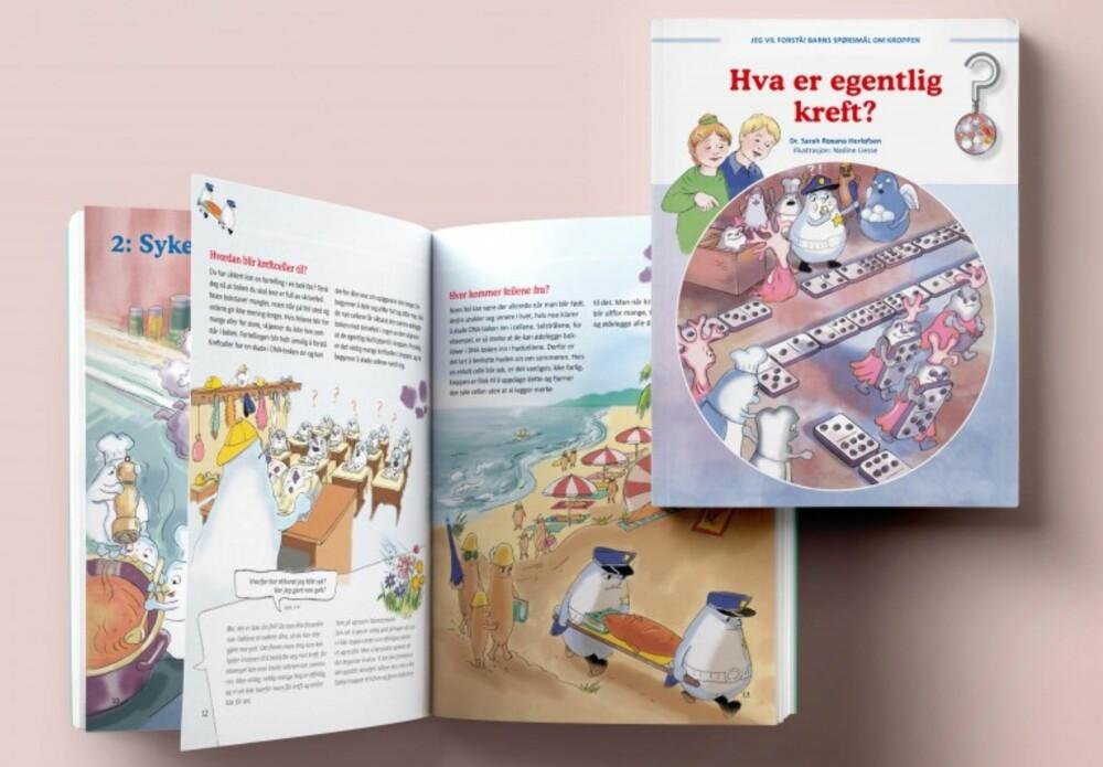 NY BOK: Med denne boka håper forfatteren å lære barn om kreft uten at det blir for skummelt.