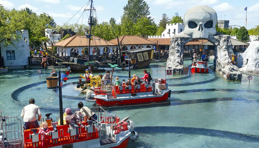 PIRATLAND: Piratlandet er alles favoritt. Her er det lov å sprute på de voksne!