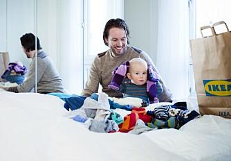SORTERING: Husk å sortere ut det som er for smått, slik at det enkelt og greit kan gis bort til yngre søsken eller andre barn.