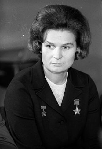KOSMONAUT: Russiske Valentina Teresjkova ble den første kvinnen i verdensrommet.