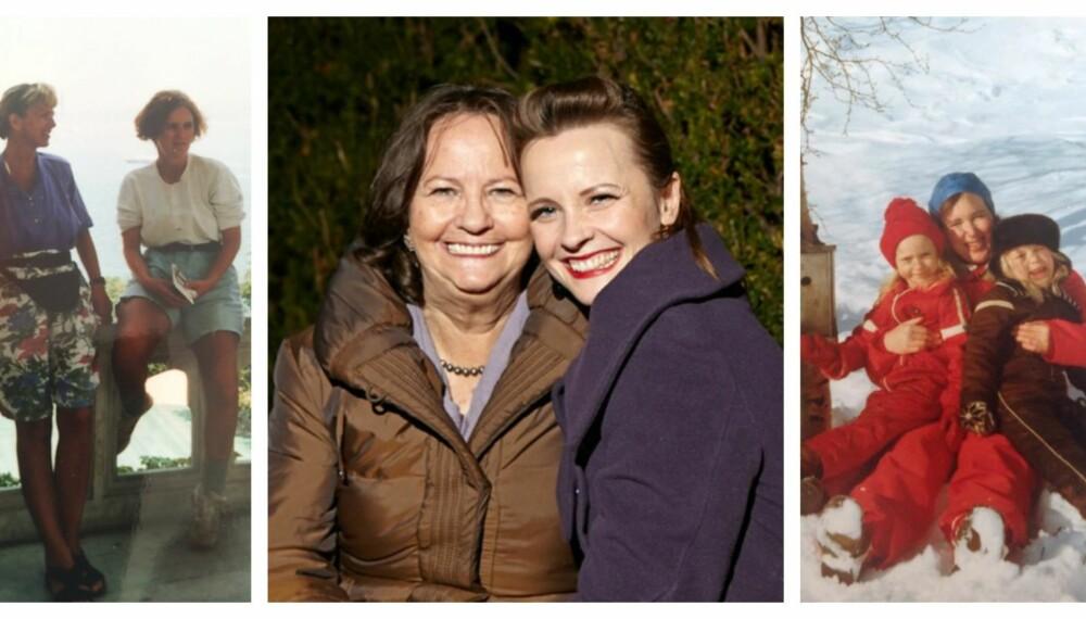 MAMMA ER VIKTIG: 10 mødre forteller om det viktigste de har lært av moren sin.  F.v Ann Karin og Gry Brødreskift, Judith og Lisa Stokke, tvillingene Anja Sofie og Hedda Nedler Haugen med mamma Trine Sofie Nedler.