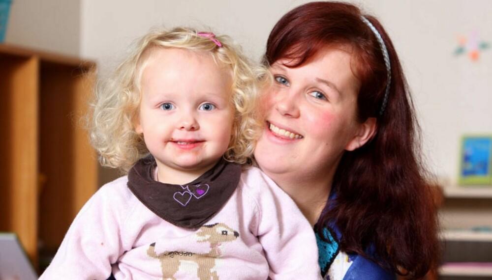 UVENTET BABYLYKKE: Lille Vilja var på ingen måte planlagt, men er en stor gave i livet til Tina Marie Hartvigsen.