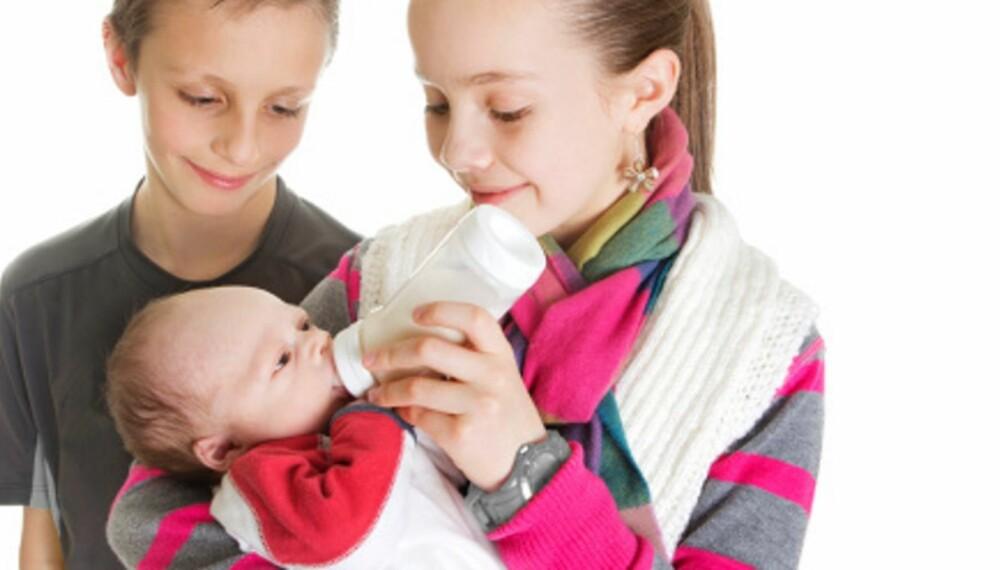 TRIO: Nina Misvær har inntrykk av at mange mødre ønsker et tredje barn når de to eldste har blitt store.  De gjerne vil gjøre det enda bedre med det siste barnet og kose seg mer.