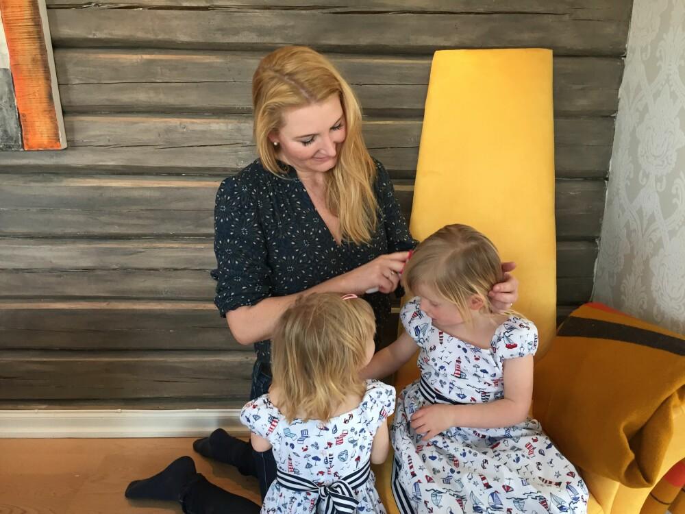 - ALDER ER BARE ET TALL: Helene Libæk har fått barnedrømmen oppfylt, og mener alder kun er et tall med erfaring, og at man ikke er for gammel til å bli mor i 40-årene.