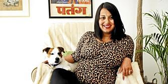 DOBBELT SVANGER: Mala Wang-Naveen debuterer med både bok og baby.
