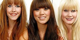SVERGER TIL ØKOLOGISK HÅR: Jentene i Lilyjets er strålende fornøyde med økologiske hårfarger. Fra venstre: Tinki Tønseth Troye, Kine Lee Aksnes og Lisbeth Mjaugeto.