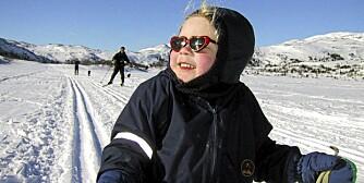 KOSETUR: Det ser ikke alltid slik ut når hele familien er på skitur.