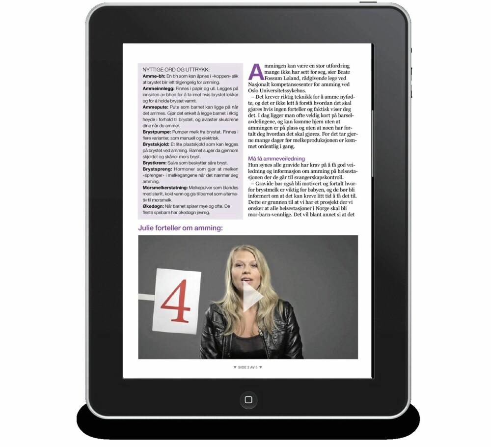 MYE STOFF: F&B Gravid har over 140 redaksjonelle sider om temaene gravide lurer på.
