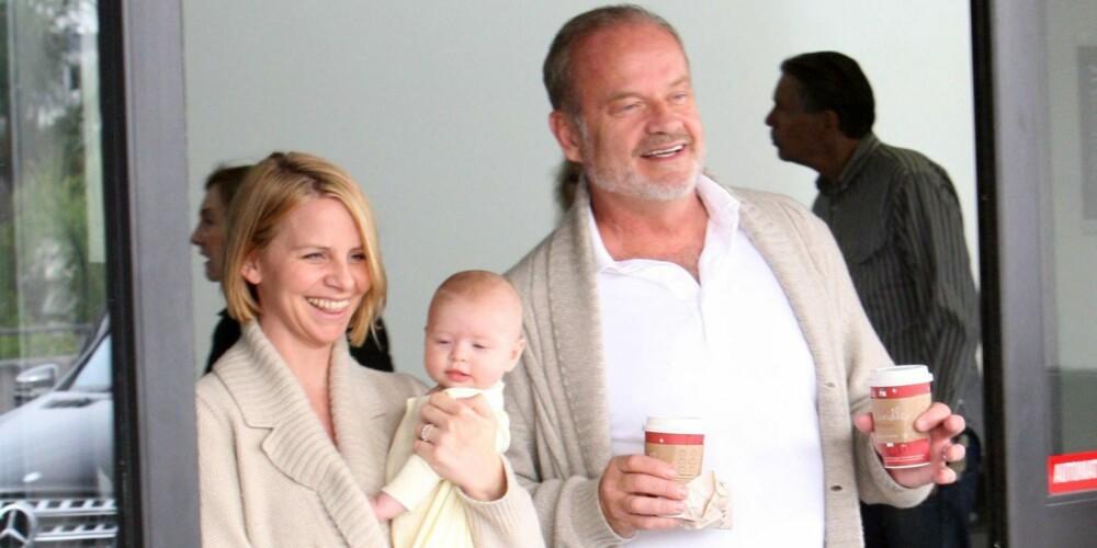 FRASIER-BABY: Frasier-stjernen Kelsey Grammer og kona Kayte Walsh valgte å gi datteren navnet Faith Evangeline Elisa.